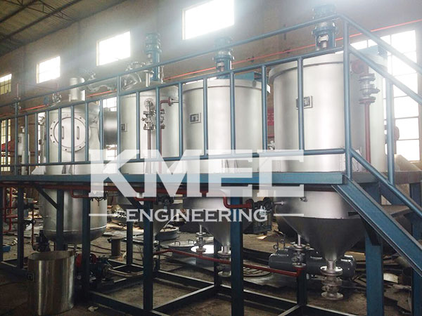 sunflower seed oil refinery line on view
