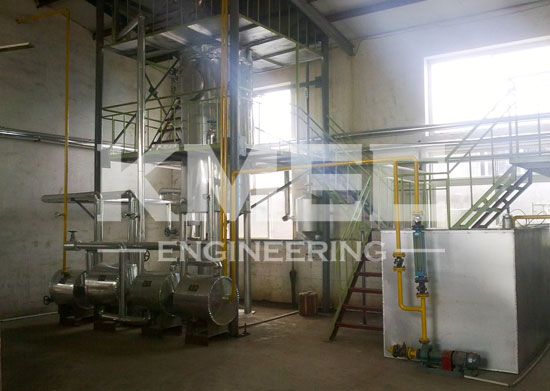 5TPD palm oil deacideification and deodorization line in Indonesia