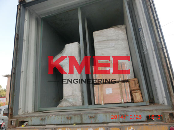 fractionation equipment installed in the container