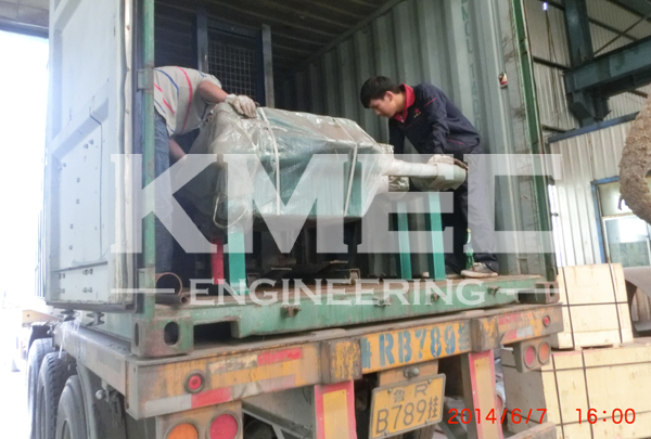 oil filter press machine in the container