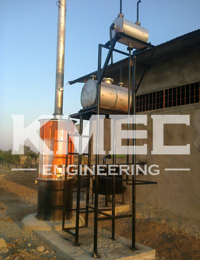 heat conduction oil furnace system of the refinery line