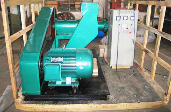 screw extruding machine in the packing box