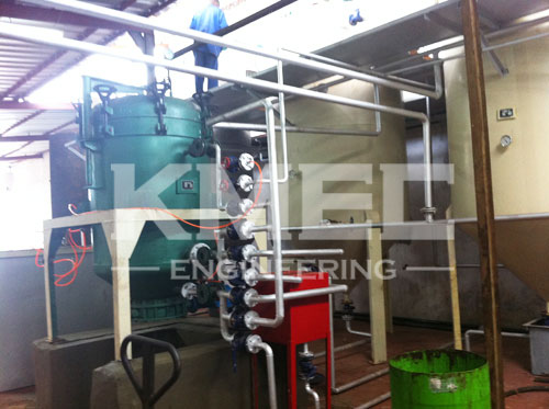 installation workshop of 10TPD coconut oil refining line in Cote d'Ivoire