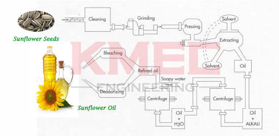 sunflower seed oil making process