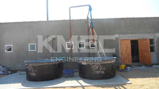 water ejection pump of seal oil refining line