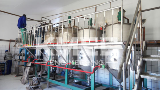 1TPD seal oil refining installation workshop