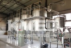 10TPD grape seed oil refining and dewaxing line in Linzhang